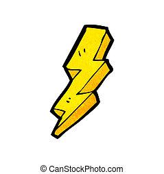 閃電, 螺栓, 卡通