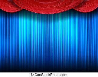 閉じられた, ステージ, 劇場