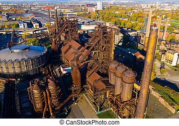 閉じられた, metallurgical, 複合センター, 工場