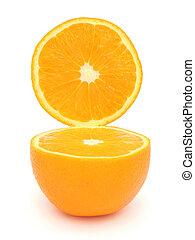 開いた, オレンジ