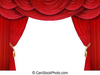開いた, カーテン, 劇場