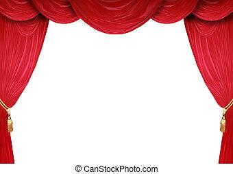 開いた, ステージ, 劇場