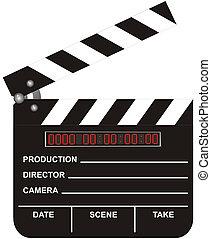 開いた, デジタル, 映画, 横羽目板張り