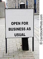 開いた, ビジネス 印