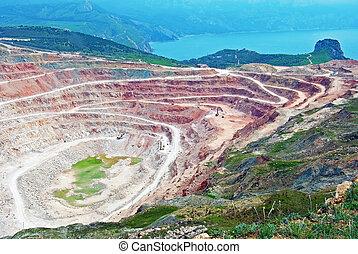 開いた ピット 鉱山