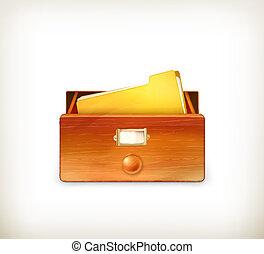 開いた, ベクトル, カタログ, カード
