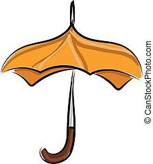 開いた, 傘, illustration., 色, ベクトル, ∥あるいは∥