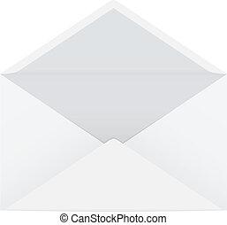 開いた, 封筒