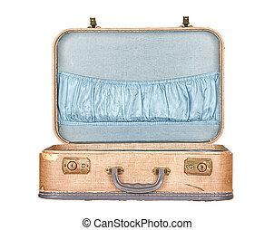 開いた, 手荷物, 型, 隔離された, スーツケース, ∥あるいは∥