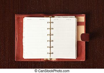 開いた, 日記