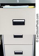 開いた, 金属, drawer., ファイルキャビネット