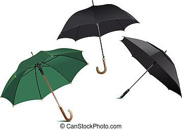 開いた, 雨, umbrella., ベクトル, イラスト