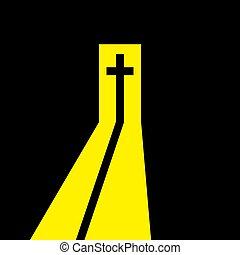 開いた, door., キリスト教徒, 交差点