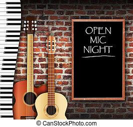 開いた, mic, 夜