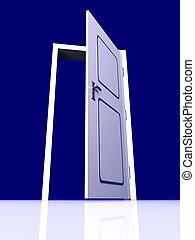 開いているドア