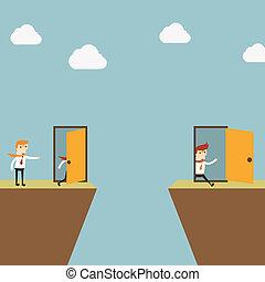 開いているドア, 成功