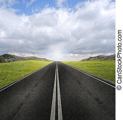 開いている道路