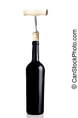 開始, びん, ワイン