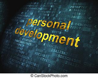 開発, 個人的, 背景, デジタル, 教育, concept: