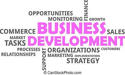 開発, 単語, -, 雲, ビジネス