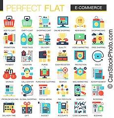 開発, 平ら, 概念, 網, ベクトル, infographic, シンボル, インターネット商業, 複合センター, デジタル, アイコン, design.