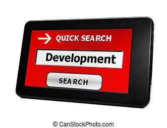 開発, 捜索しなさい