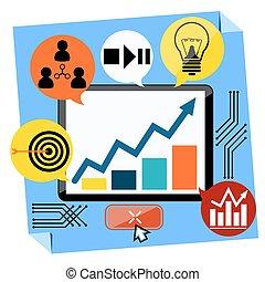 開発, 概念, プレゼンテーション, ビジネス