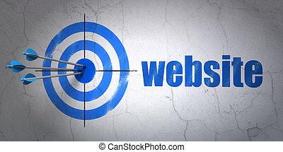 開発, 網, ターゲット, 壁, ウェブサイト, 背景, concept: