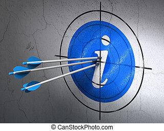 開発, 網, ターゲット, 情報, 壁, 矢, 背景, concept: