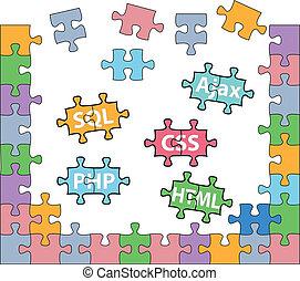 開発, 網, 困惑, html, 解決, php