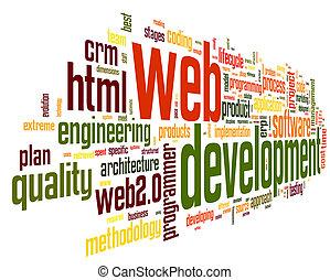 開発, 網, 概念, 単語, タグ, 雲