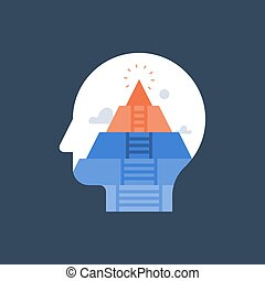 開発, 認識, ステージ, 精神, 概念, 精神分析, 自己, 個人的, ピラミッド, sself, 人間, actualization, 成長, 必要性