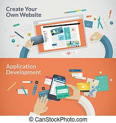 開発, apps, ウェブサイト