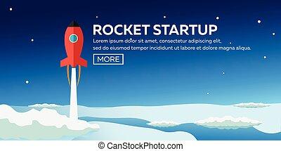 開発, process.innovation, ロケット, style.vector, スペース, プロジェクト,...