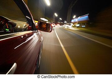 開車, 夜晚