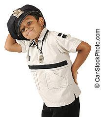間抜け, 若い, 警官