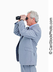 間諜, 看玻璃, 透過, 成熟, 匠人, 側視圖