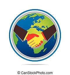 関係, 世界的である, デザイン, ビジネス