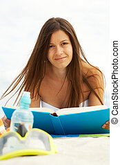 閱讀, 在海灘上