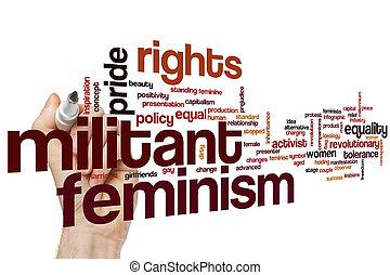 闘士, 単語, フェミニズム, 雲