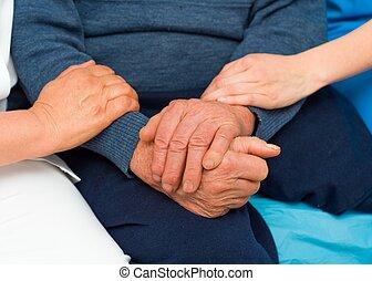 關心, 手, 為, 年長