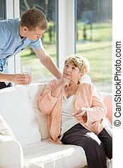 關心, 病人, 年長
