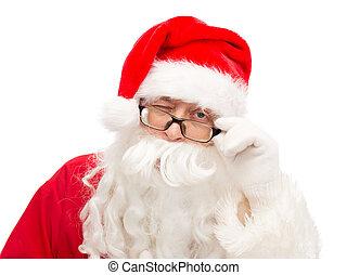 關閉, 克勞斯, 眨眼, 向上, 聖誕老人