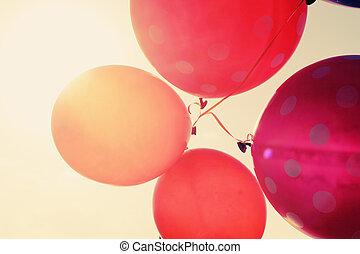 關閉, 气球, 向上
