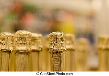 關閉, 香檳酒瓶子, 軟木塞, 包裹, 晴朗, 紙