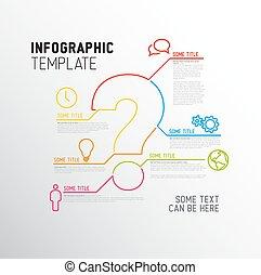 问题, 样板, 报告, 标记, 矢量, infographic