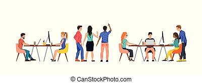 队, 团体, 办公室, 劳动人民