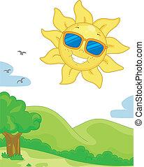 阳光充足天