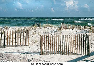 阳光充足, 海滩, 天