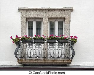 阳台, 在, pont-aven